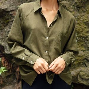 Aritzia boyfriend button up